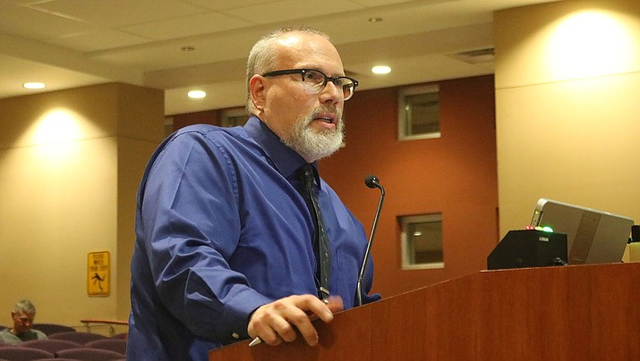 Dave Wolf, Mohave County Community Services and Housing Authority director, talks to Kingman City Council in November. The Housing Authority will hold its annual meeting on Tuesday, Feb. 18, 2020. (Miner file photo)