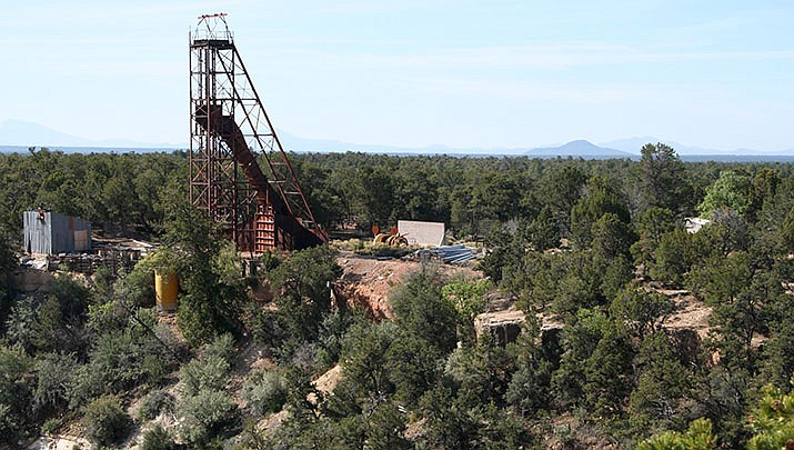 The Orphan Lode Mine, an abandoned uranium mine, is located about two miles west of Grand Canyon Village in Grand Canyon National Park. The Mohave County Supervisors are considering an amendment to the county's General Plan to encourage mining in the county. (Photo by Alan Levine, cc-by-sa-2.0, https://bit.ly/2HkYxR7)