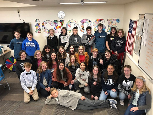 Students from Glassford Hill Middle School participated in the National History Day, Feb. 18, 2020. (Courtesy)