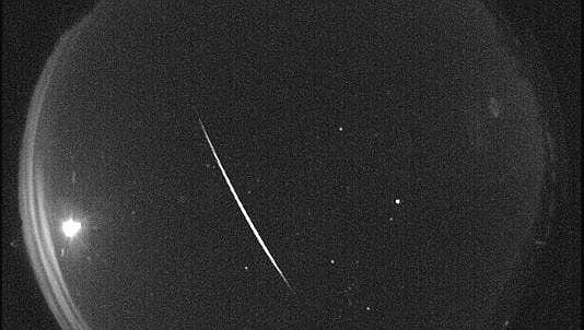 This image shows a meteor streak from a previous Quadrantids meteor shower. Yavapai County Sheriff's Officials say some type of meteor event seems to be the best explanation for the loud boom heard on Sunday morning, Feb. 16, 2020. (NASA/Courtesy)