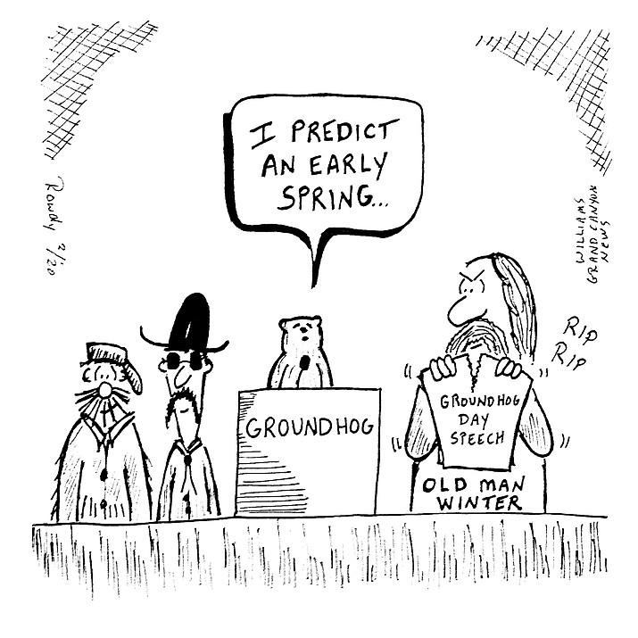 Editorial cartoon. (Rowdy)