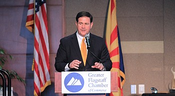 Ducey addresses northern Arizona issues at Flagstaff Athena Awards photo