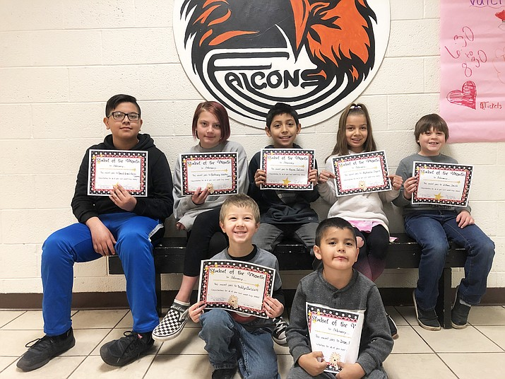 Williams Elementary-Middle School Student of the Month winners. (Photo courtesy of Williams Elementary-Middle School)