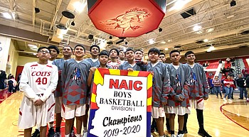 Kayenta Middle School Colts win NAIC boys basketball championship photo
