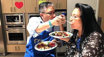 Couples cooking class helping to strengthen relationships photo