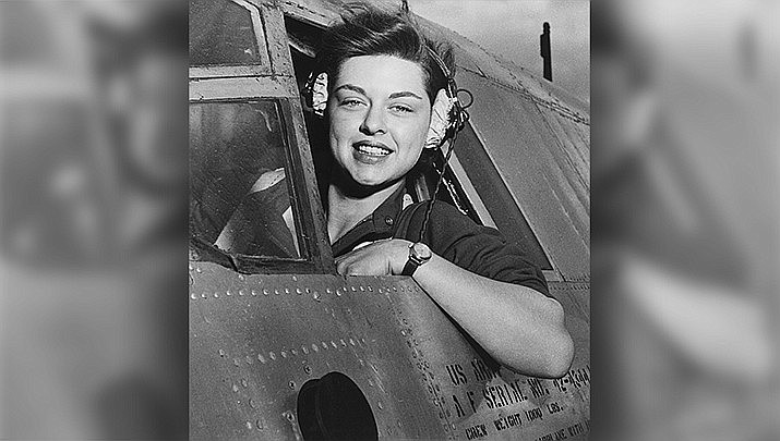 Elizabeth Gardner of Rockford, Illinois is shown at Harlingen Army Airfield in Texas in 1943. She was one of more than 1,000 Women Airforce Service Pilots during World War II, which will be the topic of a Sounds of Kingman history presentation on Saturday, Feb. 22. (National Archives and Records Administration photo/public domain, file)