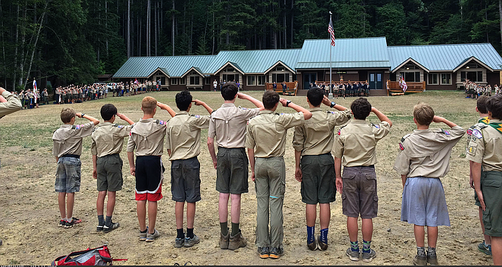 Scouts at a camp in Washington in 2015. The Boy Scouts of America, faced with up to $1 billion in potential damages from sexual abuse lawsuits, filed for bankruptcy, but Arizona officials said Scouting on the state and local level will not be affected.. (Photo by Richard Sprague)