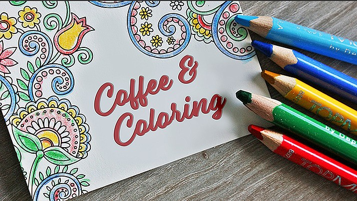 Coffee & Coloring is every Tuesday morning at 10:30. (Courtesy)