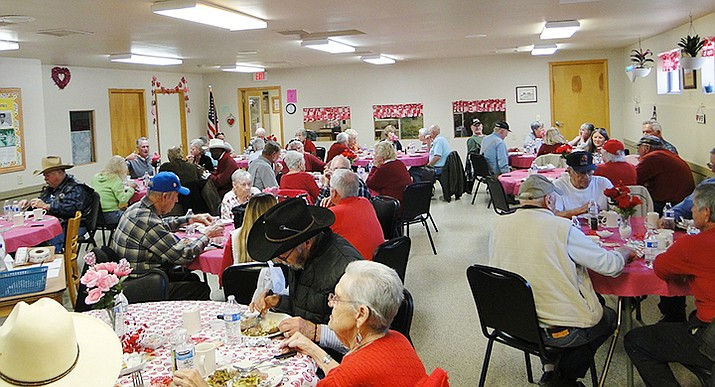 It was a fun time at the Valentine's Day prime rib party at Mayer Area Meals on Wheels. (Pat Williamson/Courtesy)