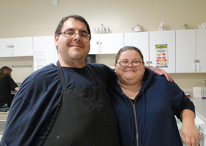 Luigi and Tanya Avellino lend a hand during a spaghetti dinner at the Cordes Lakes Community Center. (Courtesy)