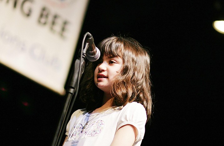 Fourth-grade home school student Aliyah Alpert of Prescott won the annual Yavapai County Spelling Bee on Friday, Feb. 21, 2020, her second win in a row. (Bill Helm/Courtesy)