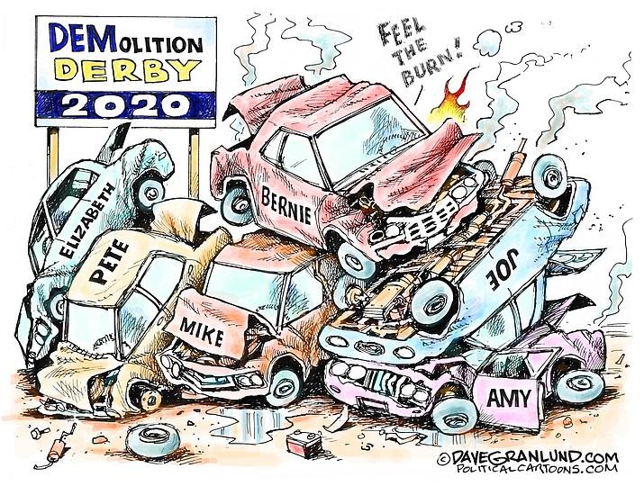 Editorial cartoon (1): Feb. 23, 2020