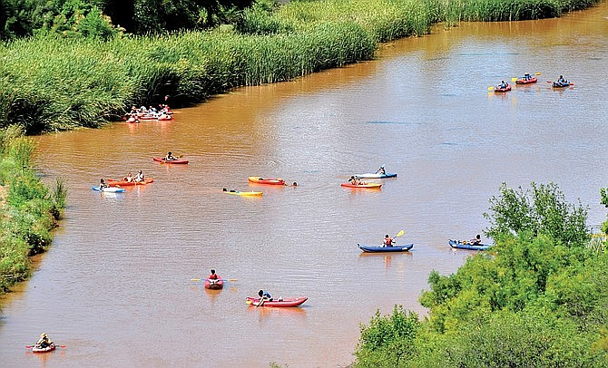 """The Friends of the Verde River announced Tuesday its first """"grade"""" of the river itself, with 16 entities contributing to an evaluation process. The overall score, which is meant to evaluate the overall health of the river, is 57 percent, or what's being called a """"C-plus"""" grade. (Vyto Starinskas/VVN)"""