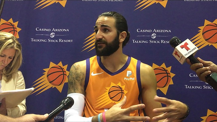 Ricky Rubio had 22 points, 11 assists and seven steals Monday to lead the Phoenix Suns to a 131-111 victory over the Jazz. (Miner file photo)
