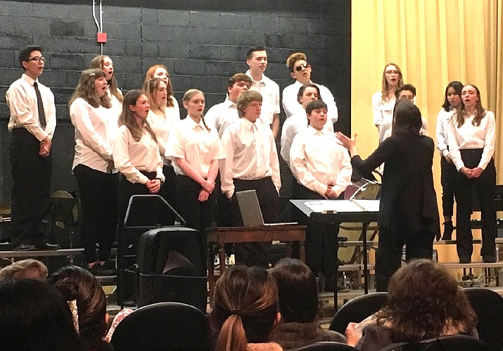 Williams Choir and Band students perform at a winter band concert Feb. 20 at Williams Elementary-Middle School. (Photos courtesy of Williams Unified School District)
