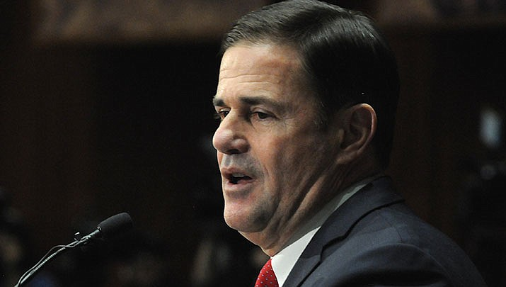 A proposal to exempt military pensions from the Arizona income tax made by Gov. Doug Ducey was defeated in a state Senate committee on Tuesday, Feb. 25. (Photo by Howard Fischer/For the Miner)