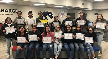 Holbrook High School recognizes January Students of the Month photo