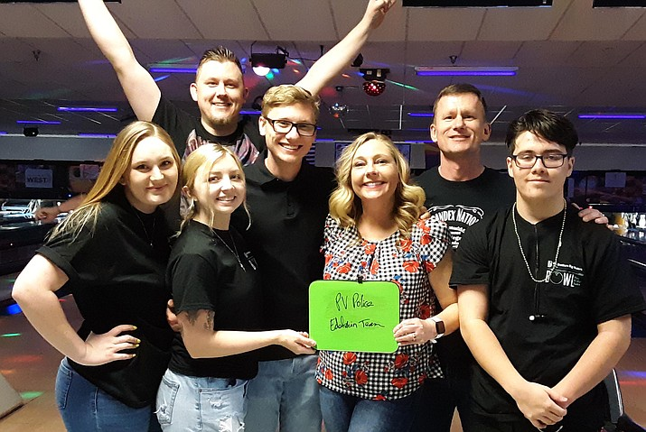 The James Edelstein family participated in Bowling for Kids Sake 2019. Photo by Yavapai Big Brothers Big Sisters
