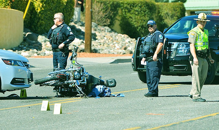 A fatal collision occurred Thursday in the 700 block of South Main Street at about 11:35 a.m. A 62-year-old Cottonwood man was killed in the collision. VVN/Vyto Starinskas
