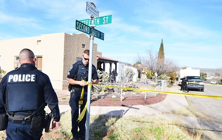 Multiple agencies responded to a home at 1424 Second South Street in Clarkdale on Thursday afternoon at about 3:30 p.m. The Clarkdale Police Department, in a release, said a man, who has yet to be identified, was shot and killed during a confrontation with officers who responded to reports of a domestic disturbance. VVN/Vyto Starinskas
