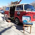 The Red Photo Bus, a Volkswagen Bus turned into a photo booth, at the 2020 Prescott Bridal Affaire Expo at the Hassayampa Inn Sunday, March 1, 2020. (Jason Wheeler/Courier)