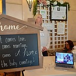 Parrish Anderson and Kylie Elliott of Prescott Realty at the 2020 Prescott Bridal Affaire Expo at Hassayampa Inn Sunday, March 1, 2020. (Jason Wheeler/Courier)