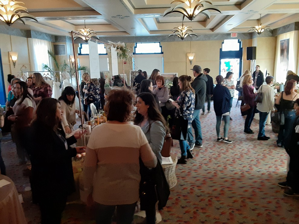 The 2020 Prescott Bridal Affaire Expo at Hassayampa Inn Sunday, March 1, 2020 drew packed crowds. (Jason Wheeler/Courier)