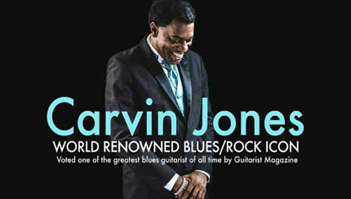 Come and see world renowned blues/rock icon, Carvin Jones perform at the Elks Theatre Performing Arts Center, 117 E. Gurley St. in Prescott at 7 p.m. on Saturday, March 7. (Elks Theatre Performing Arts Center)
