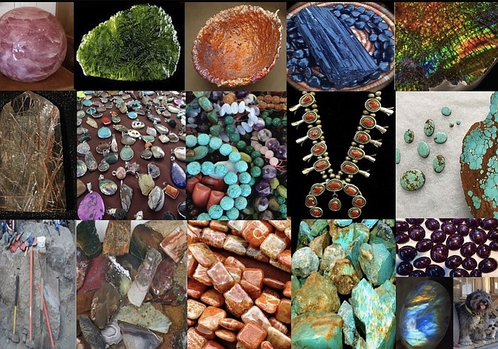 There will be vendors from across the west with many different treasures from the earth and beyond. On display and for sale will be a variety of gems, minerals, jewelry, fossils, beads, crystals, cut stones, rough and polished rock, Zuni-carved fetishes, meteorites and other items that inspire awe.
