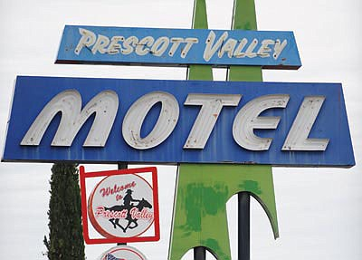 The historic Prescott Valley motel sign is coming down soon. (Courier, file)
