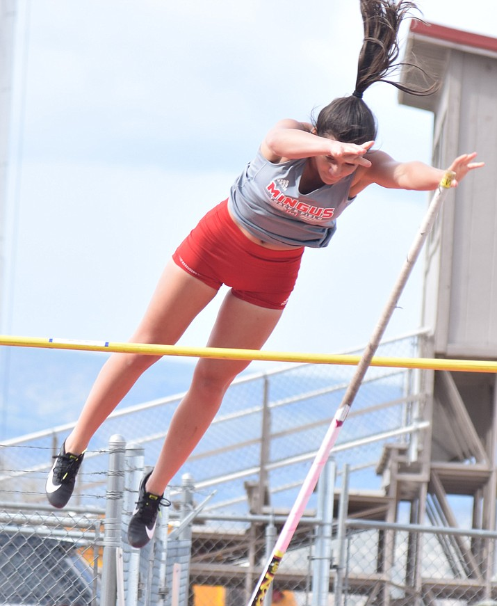 Mingus senior Joelle Santiago ranks first in Arizona Division 3 this week in the pole vault with a best jump of 10-feet, 6-inches. VVN file photo
