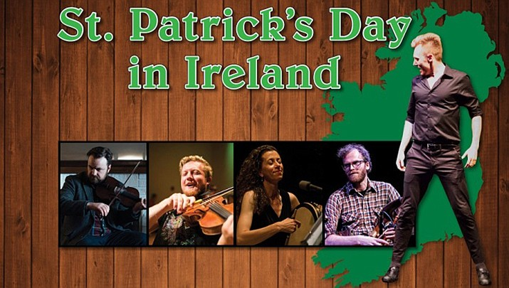 """Come celebrate """"St. Patrick's Day in Ireland,"""" at the Elks Theatre & Performing Arts Center, 117 E. Gurley St. at 7 p.m. on Friday, March 13. (Elks Theatre & Performing Arts Center)"""