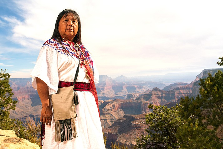 Colleen Kaska of the Havasupai Tribe shares her tribe's history of the Grand Canyon prior to it becoming a national park in 'The Voices of Grand Canyon,' an audio, video and written project that can now be viewed online. (Photo/Deidra Peaches, courtesy of Grand Canyon Trust)