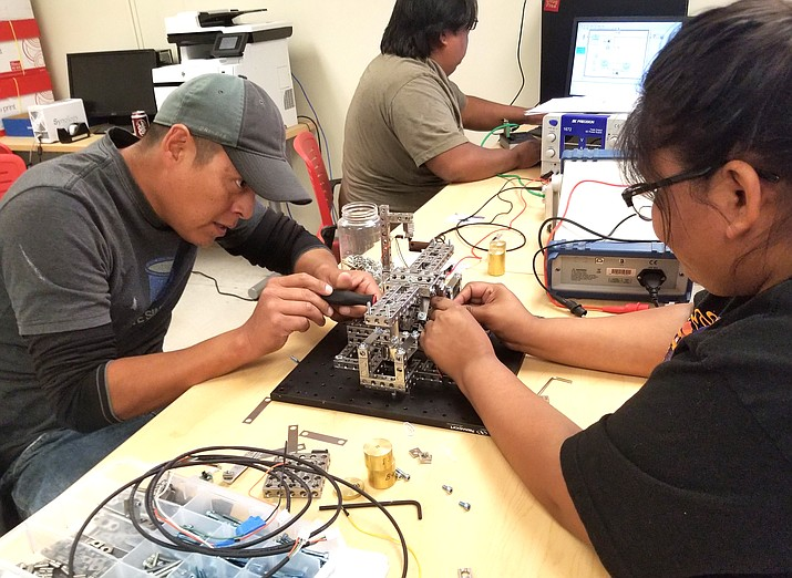 Navajo Technical University electrical engineering students work on a project. NTU has been ranked No. 18 for ebing the most affordable bachelor for its electrical engineering degree in the U.S. (Submitted photo)