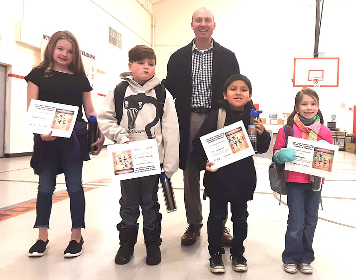 Grand Canyon Elementary School recognized students for excellence in problem solving Feb. 24 during a school assembly. (Photo/Grand Canyon School)