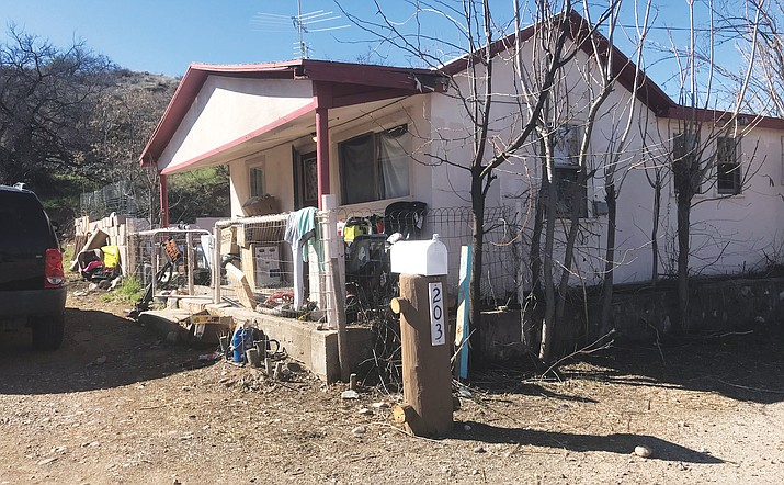 This home at 203 W. Pinal St. in Cottonwood was one of the properties owned by John T. Livingston, who signed a plea agreement last week in Cottonwood Magistrate Court for violations that include allowing a toilet to drain into a backyard. VVN/Jason W. Brooks