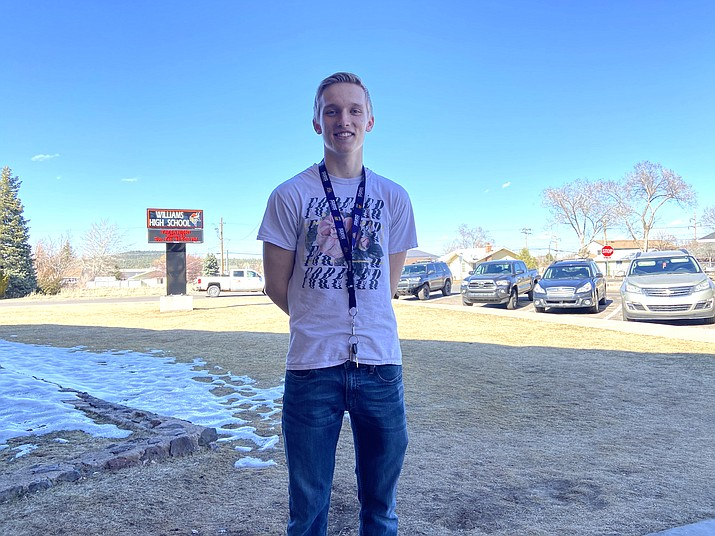 Caleb Betz is a senior at Williams High School. (Wendy Howell/WGCN)