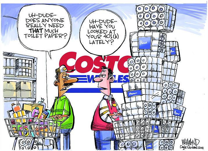 Editorial cartoon (1): March 11, 2020