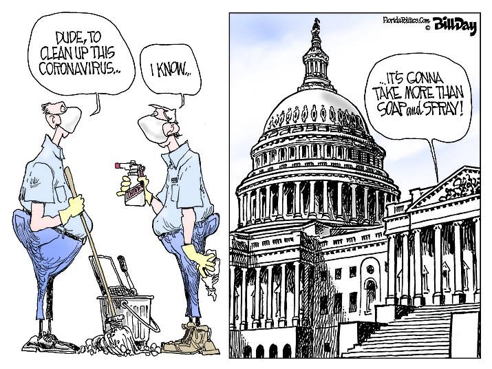 Editorial cartoon (2): March 11, 2020