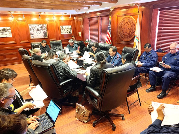 Navajo Nation President Jonathan Nez and Vice President Myron Lizer officially established the Navajo Nation COVID-19 Preparedness Team Feb. 28 to address the global outbreak. (Photo/Office of the President and Vice President)