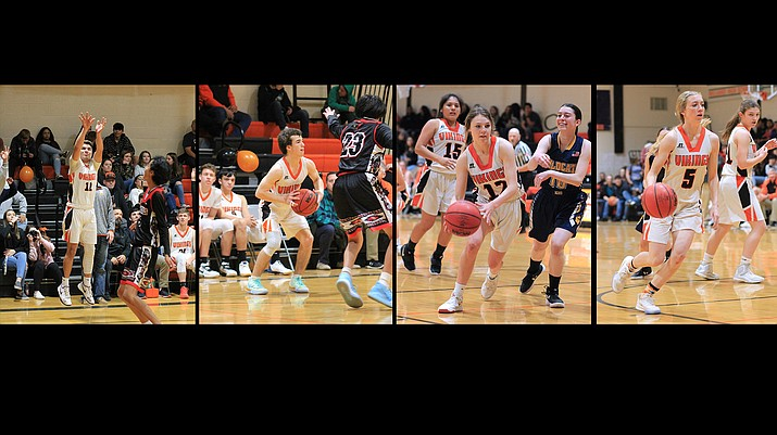 Four Vikings made regional basketball teams for the 2019-2020 season, these include David Lozano, Zain Grantham, Maegan Ford and Sydnee Mortensen.  (Wendy Howell/WGCN)