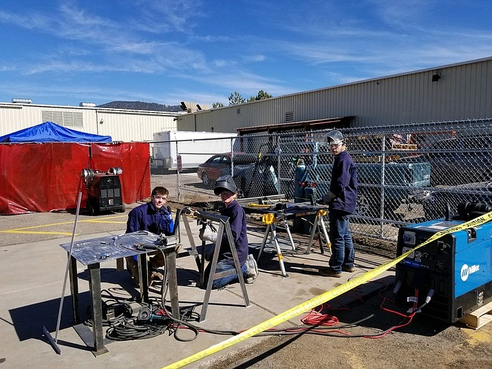 CTE welding students from Williams High School competed in the Regional Qualifiers for the State Feb. 22 in Flagstaff. (Photo courtesy of Williams Unified School District)