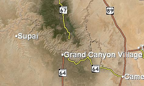 Flash flooding is possible in the Supai area of Grand Canyon. (Image/NWS)