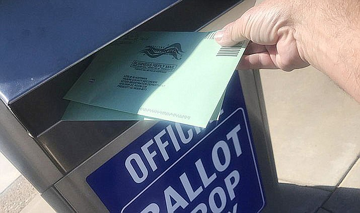 Yavapai County has multiple ballot drop-off sites. Information on drop-off sites is available online at: www.yavapai.us/GOVOTE. The county advises against mailing ballots after Wednesday, March 11, for the Presidential Preference Election. (Courier file)