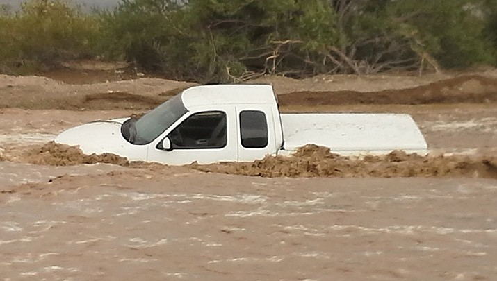 Flash flood watches are in effect in the Kingman area. Residents are advised against driving through standing water or flooded washes. (File photo by Luis Vega/For the Miner)