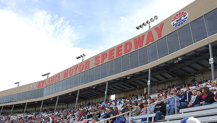 NASCAR was supposed to race Sunday without fans at Atlanta Motor Speedway, but now the race is being postponed due to COVID-19. (Photo by Duane Tate, CC by 2.0, https://bit.ly/2vkpgux)