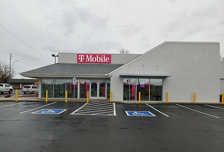 A T-Mobile location, on Iron Springs Road. The company has added a 5G tower in Cordes Lakes, southeast of Prescott. (Doug Cook/Courier)
