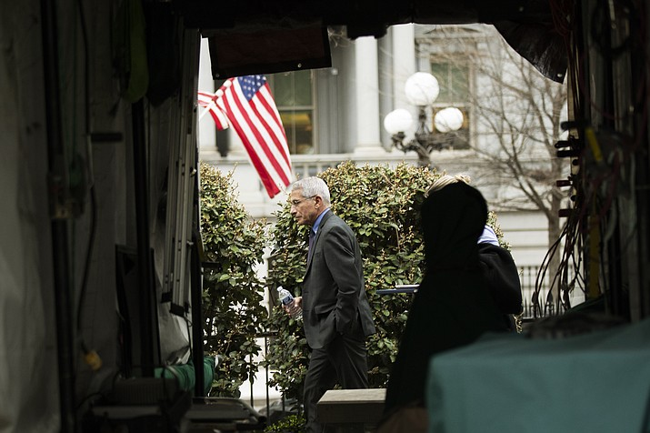 Director of the National Institute of Allergy and Infectious Diseases at the National Institutes of Health Anthony Fauci March 12 in Washington. (AP Photo/Manuel Balce Ceneta)