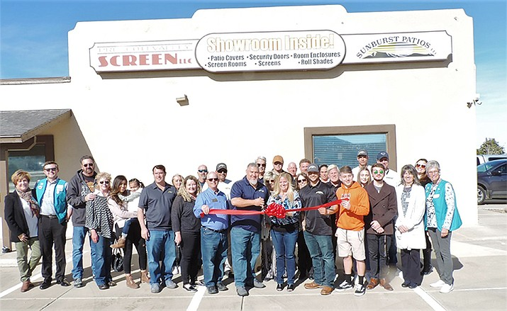 The Prescott Valley Chamber of Commerce celebrated Sunburst Patios LLC and its owners David and Jody Griego on their grand re-opening celebration! (Prescott Valley Chamber of Commerce/Courtesy)