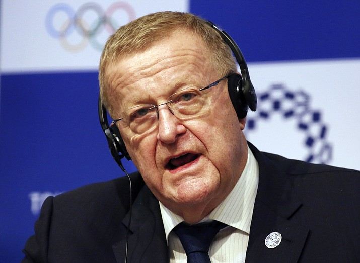 "In this Dec. 5, 2018, file photo, John Coates, the leader of the IOC's coordination commission for the Tokyo Olympics, speaks during a press conference in Tokyo. Coates said there is no May deadline to cancel the games and he remains confident the event will go ahead despite sports coming to a virtual standstill globally amid the coronavirus outbreak. Coates told the Sydney Morning Herald newspaper Monday, March 16, 2020: ""It's all proceeding to start on the 24th of July.""(Koji Sasahara, APFile)"